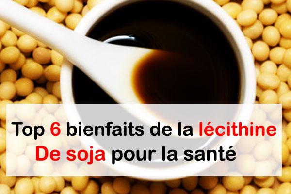 Top 6 bienfaits de la lécithine de soja pour la santé